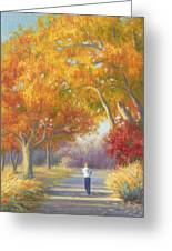 A Walk In The Fall Greeting Card
