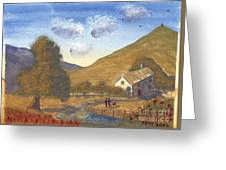 A Walk In The Hills Greeting Card
