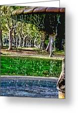 A Walk In The Park By Diana Sainz Greeting Card