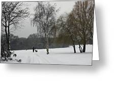 A Walk In The Snow. Greeting Card