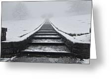 A Walk Into The Fog Greeting Card
