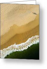 A Walk On The Beach. A Kite Aerial Photograph. Greeting Card by Rob Huntley