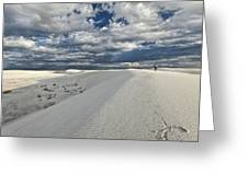 A Walk On The Dunes Greeting Card