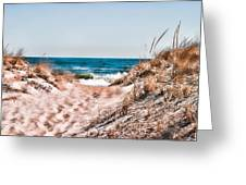 A Walk Out To The Water Greeting Card