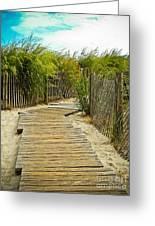A Walk To The Beach Greeting Card
