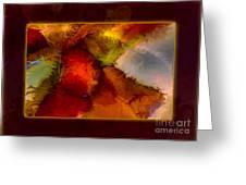 A Warrior Spirit Abstract Healing Art Greeting Card