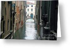 A Waterway Of Venice  Greeting Card