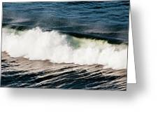 A Wave Breaks  Cannon Beach, Oregon Greeting Card