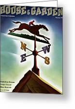 A Weathervane With A Racehorse Greeting Card