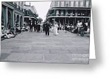 A Wedding In Jackson Square Greeting Card