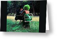 A Very Green Weekend In The Country Greeting Card
