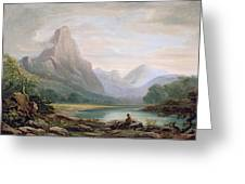 A Welsh Valley, 1819 Greeting Card