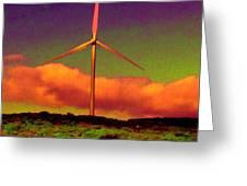 A Western Windmill Greeting Card