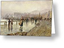 A Wet Day In Whitby Wc On Paper Greeting Card