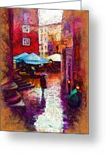 A Wet Evening Greeting Card