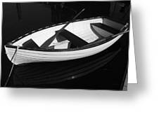 A White Rowboat Greeting Card