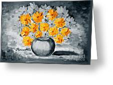 A Whole Bunch Of Daisies Selective Color I Greeting Card