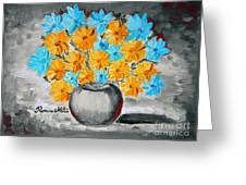 A Whole Bunch Of Daisies Selective Color II Greeting Card