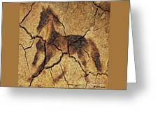 A Wild Horse - Wal Art Greeting Card