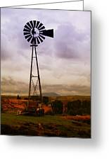 A Windmill And Wagon  Greeting Card