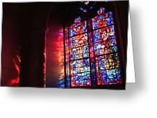 A Window In A Church Greeting Card