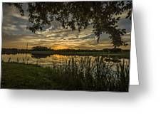 A Window To Sunset Greeting Card