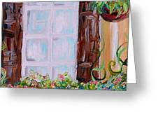 A Window View Greeting Card