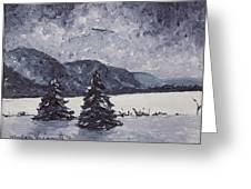 A Winter Evening Greeting Card by Monica Veraguth