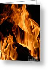 A Winter Fire Greeting Card