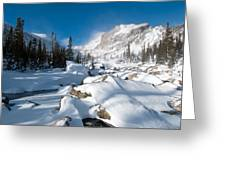 A Winter Morning In The Mountains Greeting Card by Cascade Colors