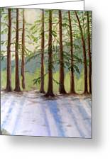 A Winter Scene Greeting Card