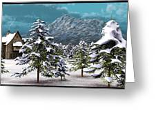 A Winter Scene... Greeting Card