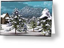 A Winter Scene... Greeting Card