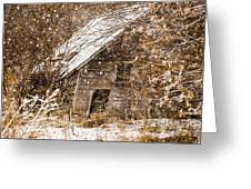 A Winter Shed Greeting Card
