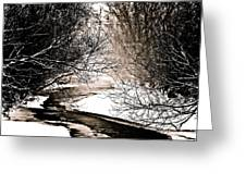 A Winter Stream 2 Greeting Card
