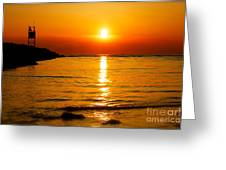 A Winter Sunset In Cape May New Jersey Greeting Card