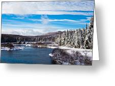 A Winter Wonderland On The Moose River Greeting Card