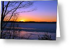A Winters Horizon Greeting Card
