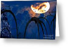 A Winter's Moon 3 Greeting Card