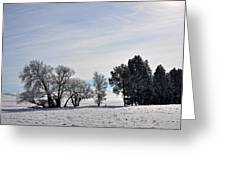 A Wintery Day Greeting Card