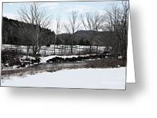A Wintery Day In Vermont Greeting Card
