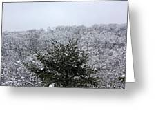 A Wintery View At The United States Military Academy At West Poi Greeting Card