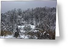 A Wintery View At The United States Military Academy Greeting Card