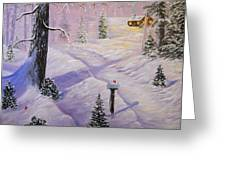 A Wintery Wonderland Retreat Greeting Card
