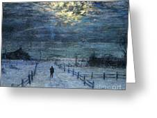 A Wintry Walk Greeting Card