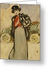 A Woman Driver Greeting Card