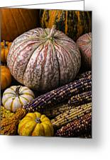 A Wonderful Autumn Harvest Greeting Card