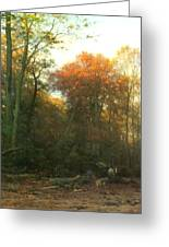 A Woodcutter At Work Greeting Card