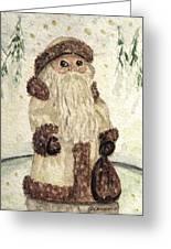 A Woodland Santa Greeting Card