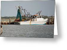 Seadrift Texas Working Boat Greeting Card